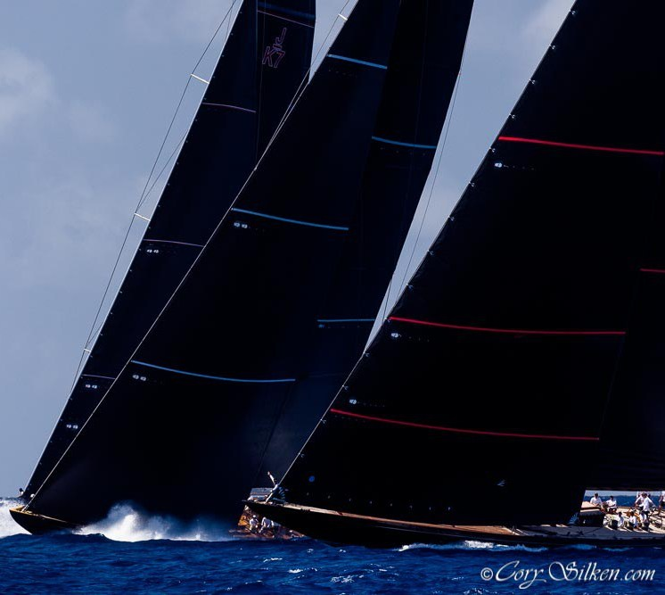 Svea, Topaz and Velsheda vying for position @Cory Silken