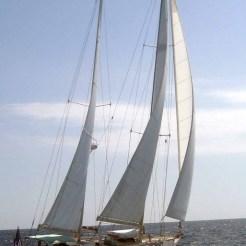 Marnie under sail