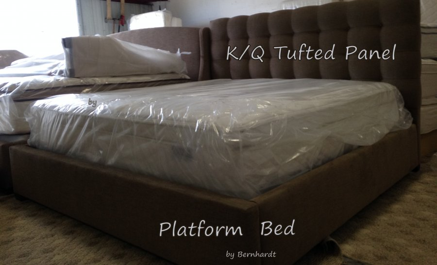 King and Queen Size Upholstered Bernhardt Bed  Brand New