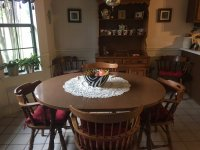 Solid Maple Wood Hutch and Kitchen table with 6 chairs ...