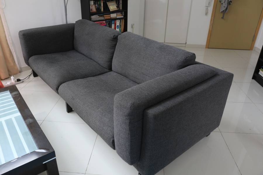 sofa seat cover singapore beds designs ikea nockeby three and spare classifieds new price for is sgd 1885 covers can be machine washed tallmyra white black will sell with 4 cushions cash only