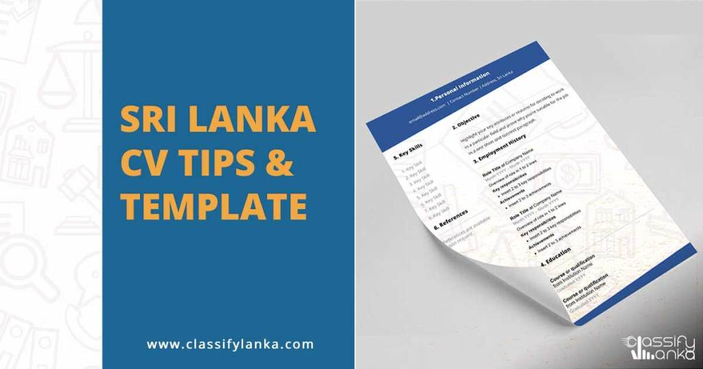Sri Lanka CV Tips and Guide
