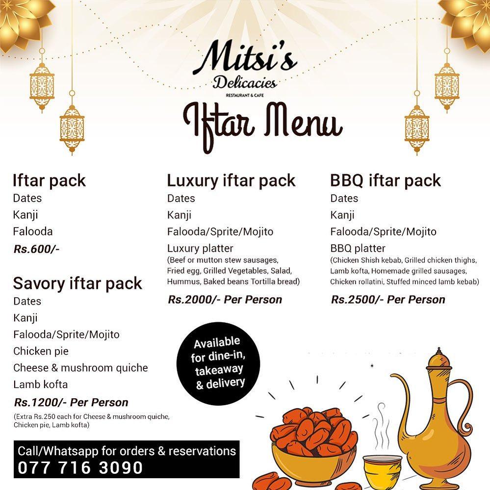 Mitsis Delicacies Iftar menu