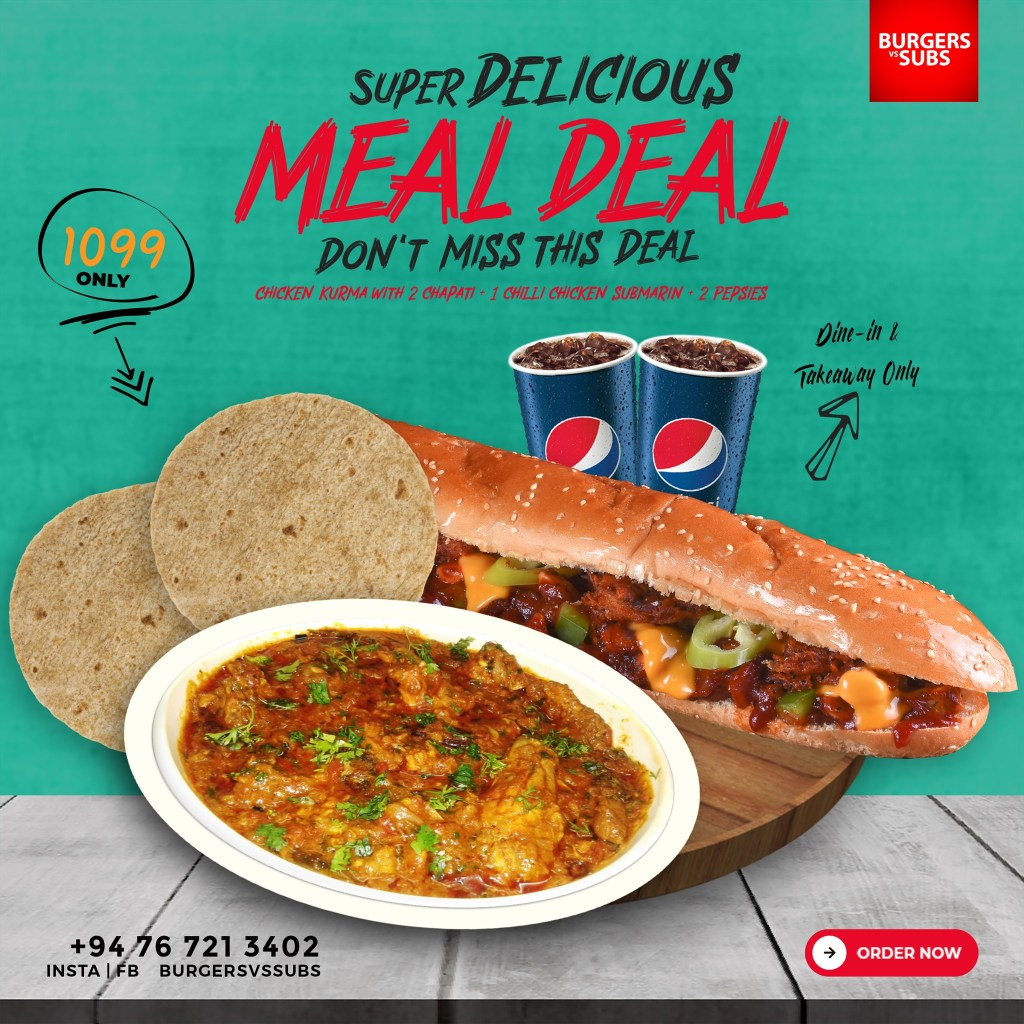 burgers vs subs meal deal