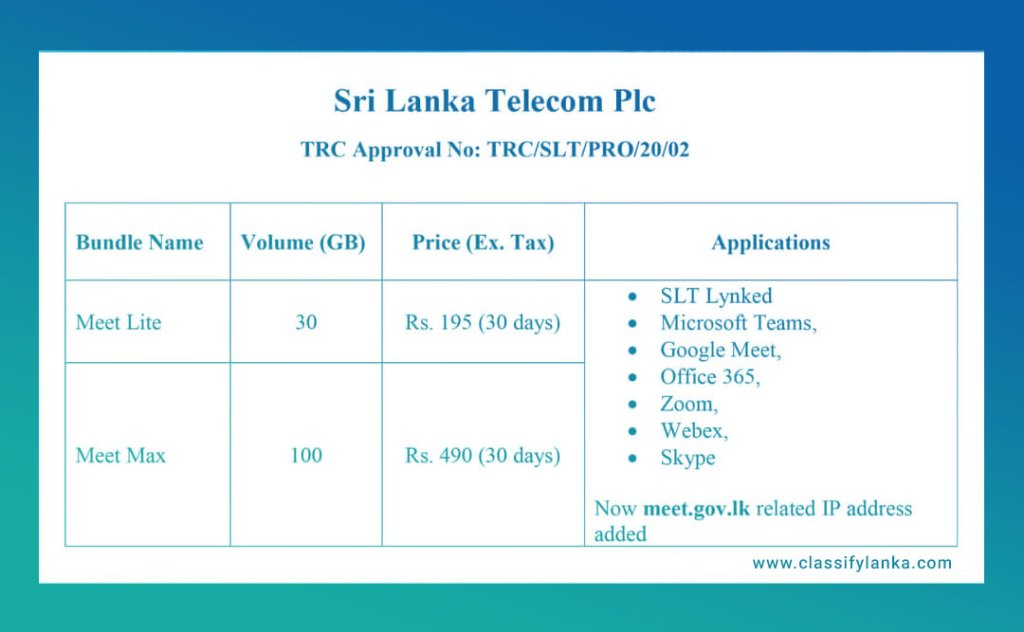 slt new trc package