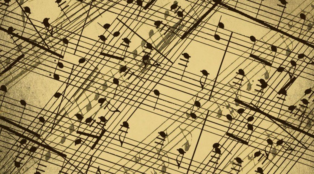 Partitions entremêlées de musique classique