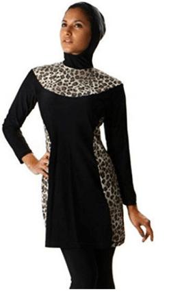 combinaison, burkini, tunique, femmes musulmanes, islam pas cher. Burkini avec voile, hijab pour grande taille. burkini leopard style dubai.