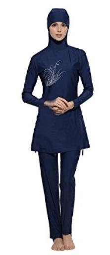 combinaison, burkini, tunique, femmes musulmanes, islam pas cher. Burkini avec voile, hijab pour grande taille.