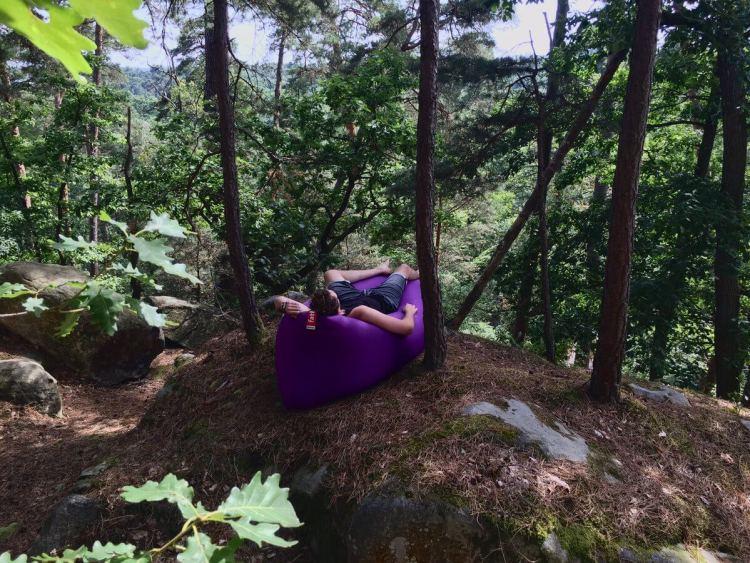 Faire la sieste en pleine forêt sur son lamzac