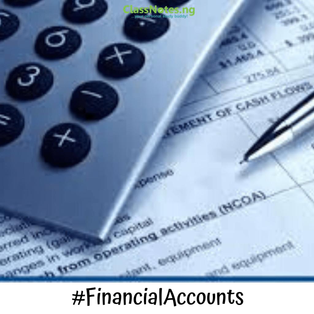 Financial Accounts ClassNotes