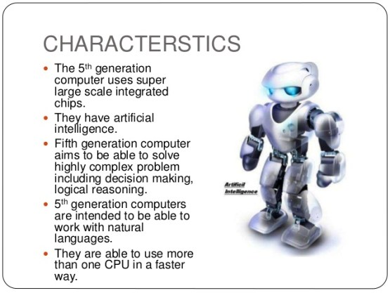5th Generation classification of computers classnotesng