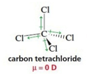 Dipole moment of carbon tetrachloride