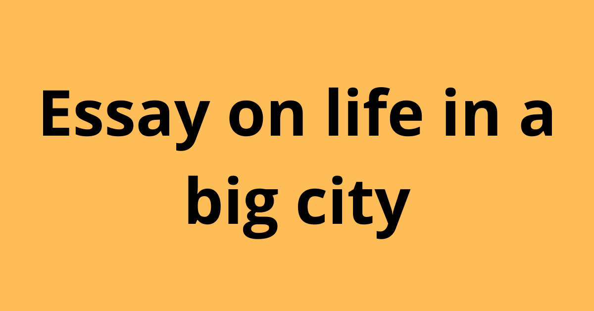 Essay on life in a big city