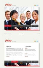 This is a template for a business website found at TemplateMonster. It is interesting in the sense that it breaks up the main image as part of the navigation. The sound it comes with is annoying.