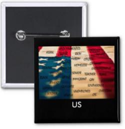 ClassofHC US American Flag Button