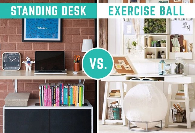 Which Wins Wednesday Exercise Ball vs Standing Desk at
