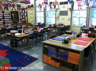 A 5th grade room – note what looks like carpet space