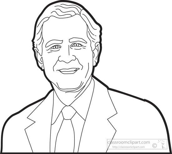 American Presidents : president-george-w-bush-outline