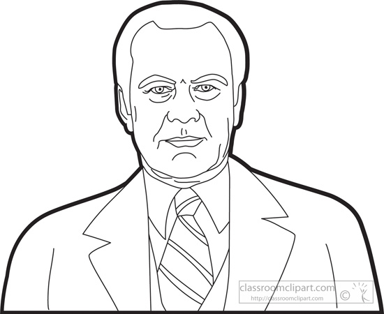 American Presidents : president-gerald-ford-outline