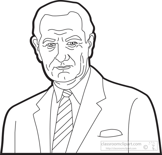 American Presidents : president-lyndon-b-johnson-clipart