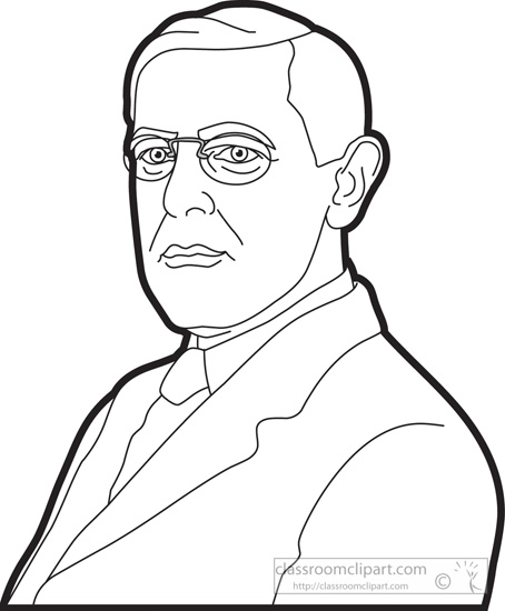 American Presidents Clipart- president-woodrow-wilson