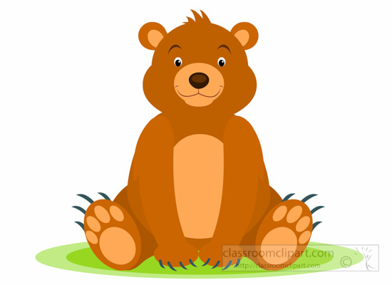 bear clipart - baby-grizzly-bear-sitting-clipart-6920