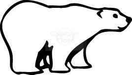 Bear Clipart : polar_bear219 : Classroom Clipart
