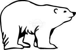 Bear Clipart : polar_bear_220 : Classroom Clipart
