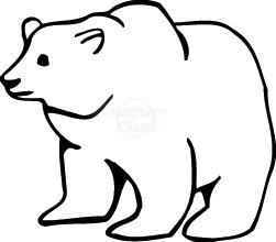 Bear Clipart : polar_bear_55 : Classroom Clipart