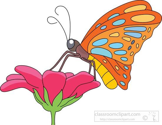 butterfly clipart - butterfly-nectar-flower-clipart-7216-2