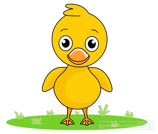 duck clipart little-cute-yellow-duck-standing-1115