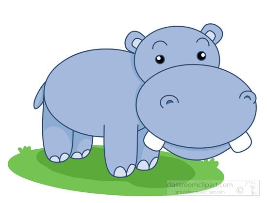 Hippo Clipart Clipart bigteethcutehippopotamusclipart