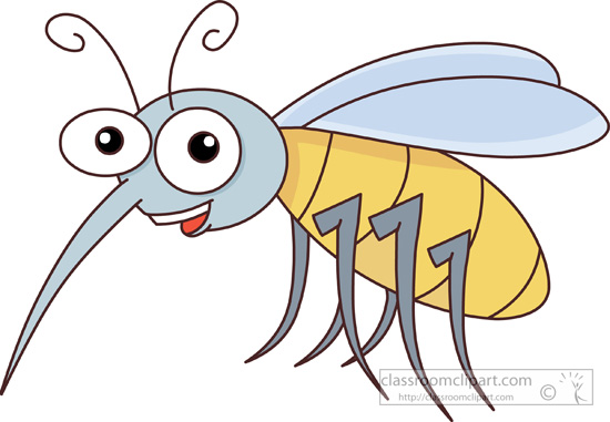 insect clipart - mosquito-cartoon-character-427