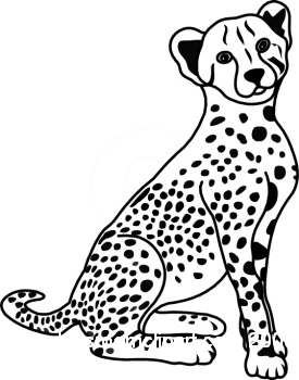 Leopard Clipart : 01-06-09_6RBW : Classroom Clipart
