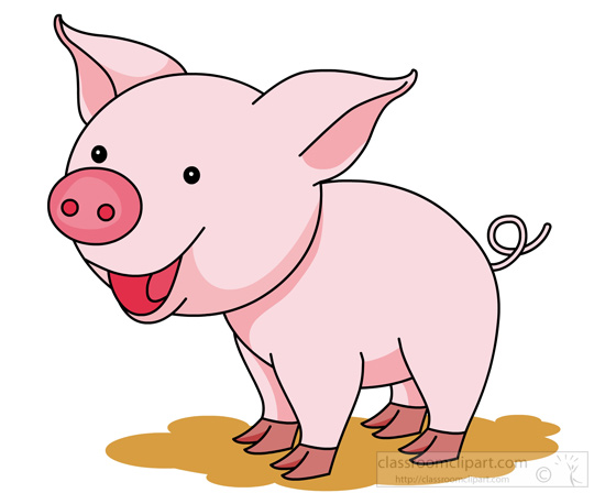 pig clipart clipart- cute-smiling-pink-pig-clipart