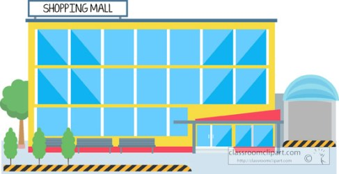 mall clipart shopping clip building center transparent architecture library cliparts
