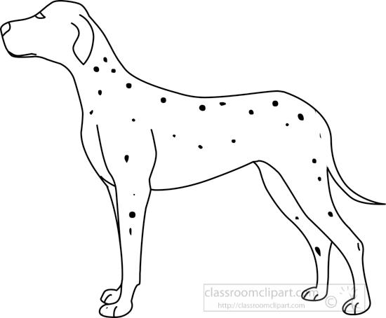 Dog Outline Clip Art Black and White