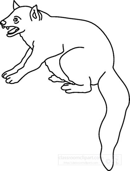 Animals : mongoose_0611EBW : Classroom Clipart