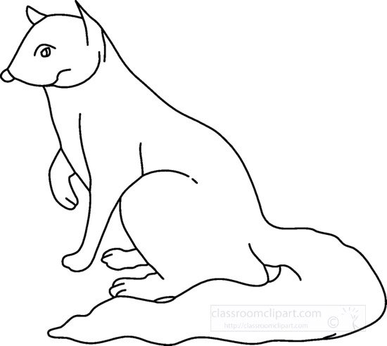 Animals : mongoose_0611FBW : Classroom Clipart