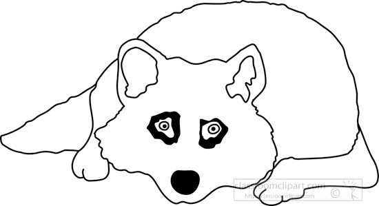 Animals : wolf_327_3b_outline : Classroom Clipart
