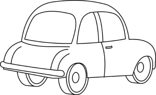 cars clipart- cartoon 02 outline