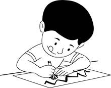 clipart boy drawing children outline clip dancing graphics