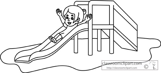 slide playground clipart outline down going children classroom classroomclipart background transparent medium members join