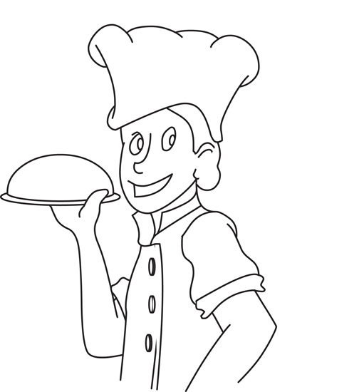 Food : outline-culinary-food-chef : Classroom Clipart