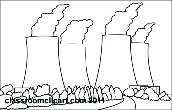 General : nucleur-power-plant-2-bw : Classroom Clipart