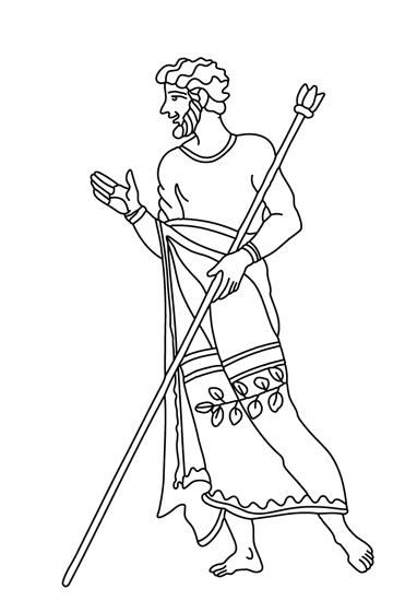 History Clipart- man-ancient-greece-clothing-bw