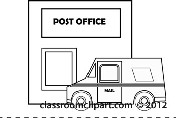Home : postoffice-building-delivery-truck-outline