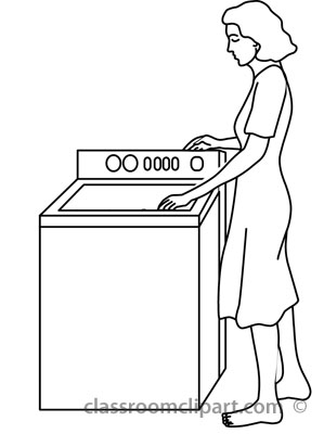 Home : woman_washing_clothes_outline : Classroom Clipart
