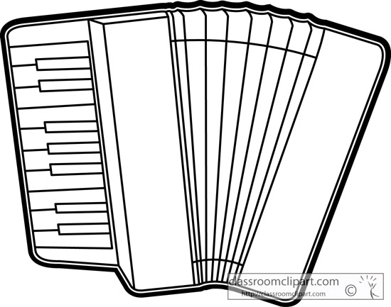 Music : accordian_musical_instrument_outline_13