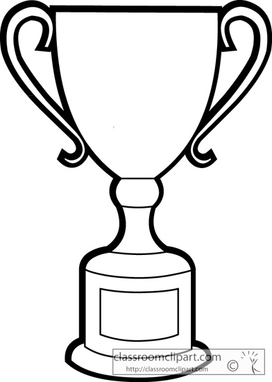 Objects : trophy_outline_2513_2 : Classroom Clipart